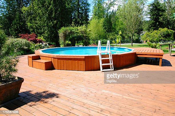 Above Ground Back Yard Pool