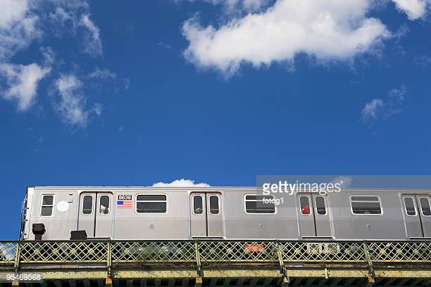 above ground subway cars - railroad car stock pictures, royalty-free photos & images