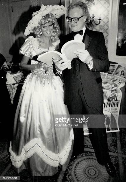 Above lawyer Leslie Sigurdson with blond curls from Sugar's costume house and actorcomedian Dave Broadfoot