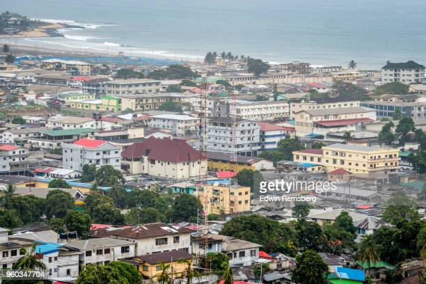 above monrovia - liberia stock pictures, royalty-free photos & images