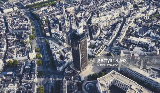 above nantes, the tower bretagne - loire atlantique photos et images de collection