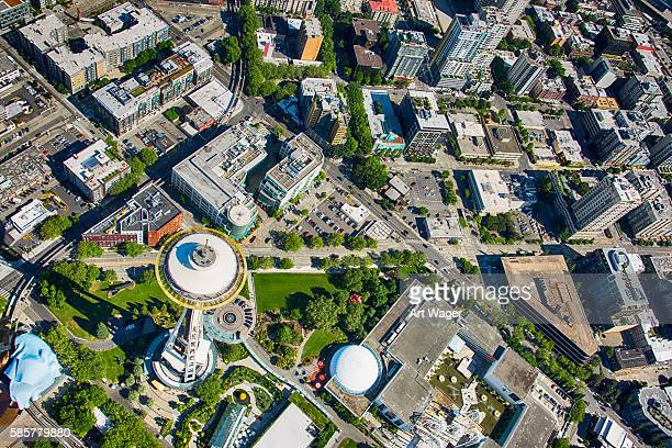 Above Seattle's Space Needle