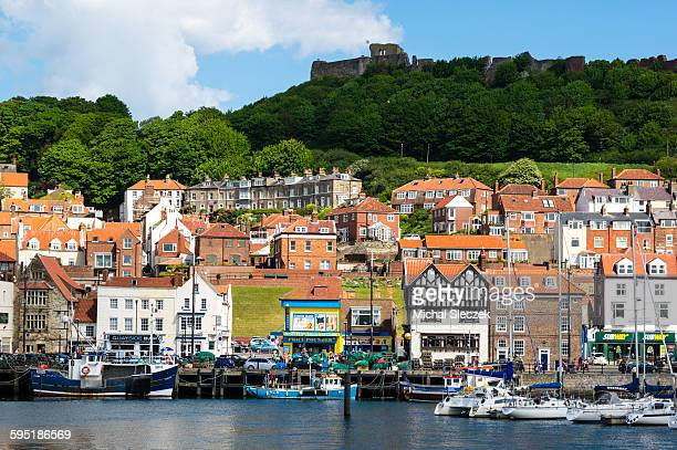 above the city - scarborough uk stock pictures, royalty-free photos & images