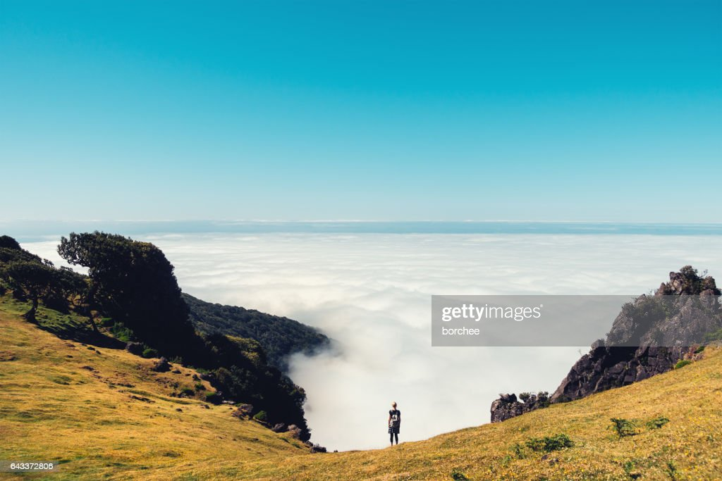 Above The Cloud On Madeira Island : Stock Photo