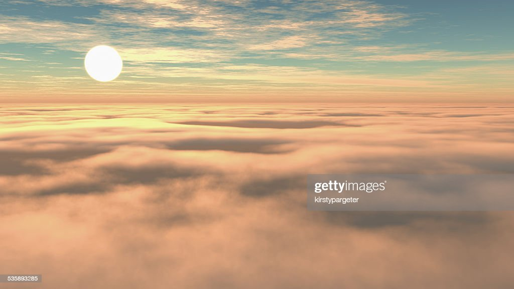 Above the clouds : Bildbanksbilder