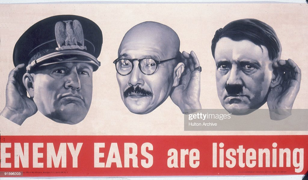 'Enemy Ears Are Listening' : News Photo