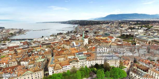 Above the Old Town of Geneva, Switzerland