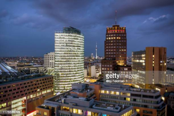 above the roofs of berlin - potsdamer platz stock pictures, royalty-free photos & images