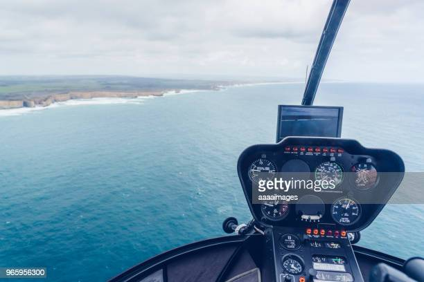 above view of the twelve apostles from helicopter - helicopter stock pictures, royalty-free photos & images