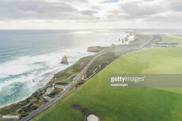 above view of the Twelve Apostles,Great Ocean Road,Victoria