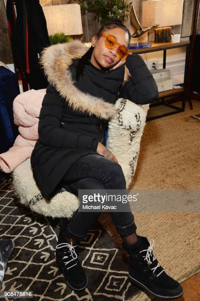 Abra attends as Grey Goose Blue Door hosts the casts of gamechanging films during the Sundance Film Festival at The Grey Goose Blue Door on January...