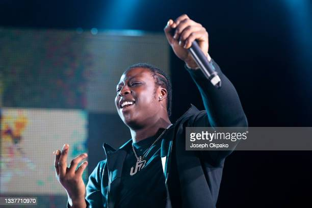 Abra Cadabra performs on BBC Radio 1Xtra stage during Reading Festival 2021 at Richfield Avenue on August 29, 2021 in Reading, England.