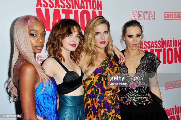 Abra Odessa Young Hari Nef and Suki Waterhouse arrive at the Premiere of Neon and Refinery29's 'Assassination Nation' at ArcLight Hollywood on...