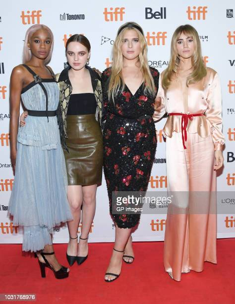 """Abra, Odessa Young, Hari Nef and Suki Waterhouse attend the """"Assassination Nation"""" premiere during 2018 Toronto International Film Festival at..."""