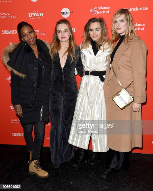 Abra Odessa Young Suki Waterhouse and Han Nef attend the 'Assassination Nation' Premiere during the 2018 Sundance Film Festival at Park City Library...