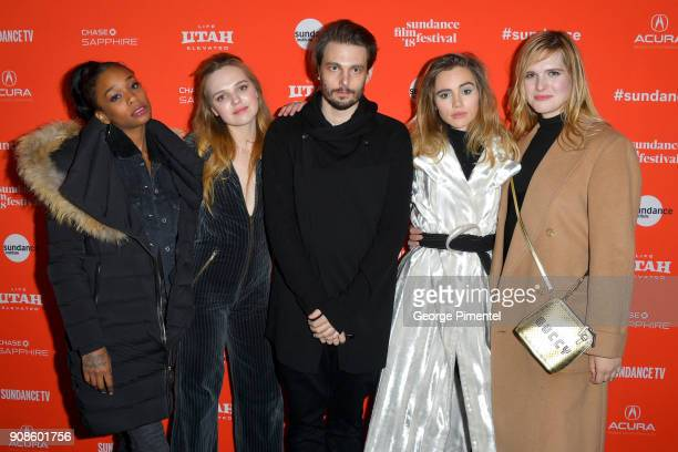 Abra Odessa YoungSam Levinson Suki Waterhouse and Han Nef attend the 'Assassination Nation' Premiere during the 2018 Sundance Film Festival at Park...