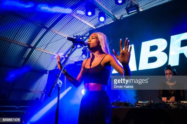 Abra performs on stage during Lowlands festival at Evenemententerrein Walibi World on August 18 2017 in Biddinghuizen Netherlands
