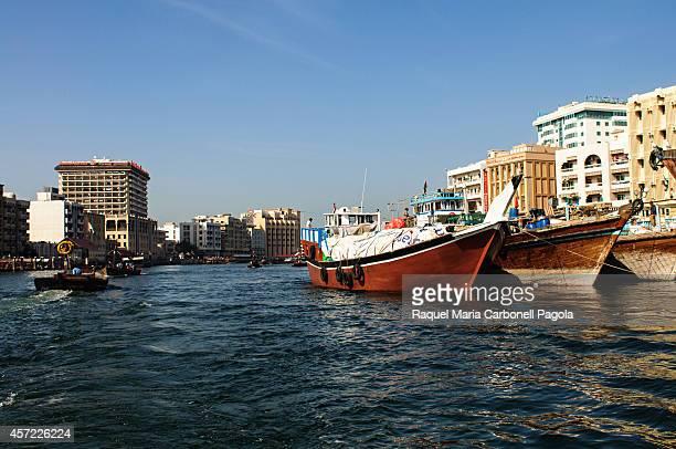 Abra water taxis in Dubai Creek