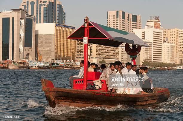 Abra water taxis on Dubai Creek.