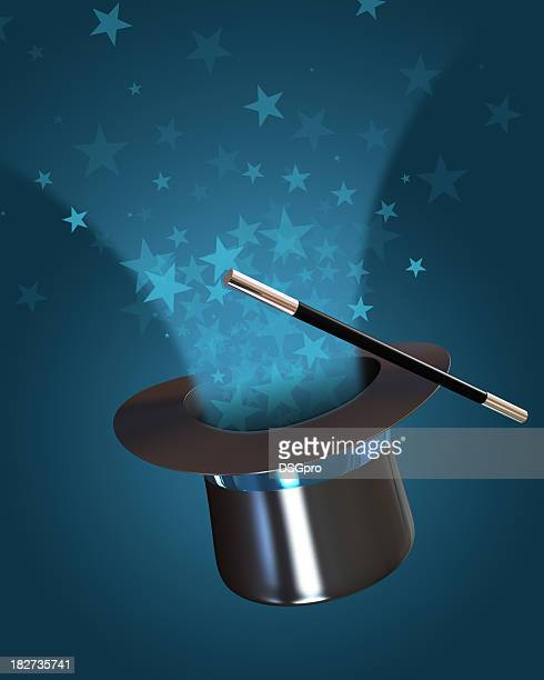 abracadabra - blue hat stock pictures, royalty-free photos & images
