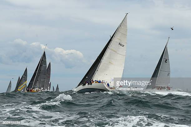 Abracadabra races during the 2015 Sydney to Hobart on December 26 2015 in Sydney Australia