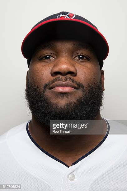 Abraham Almonte of the Cleveland Indians poses for a portrait during photo day at the Cleveland Indians Development Complex on February 27 2016 in...