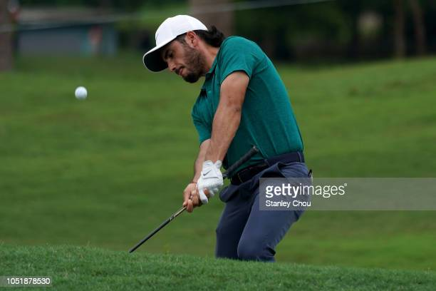 Abraham Ancer of Mexico in action during the first round of the CIMB Classic at TPC Kuala Lumpur on October 11 2018 in Kuala Lumpur Malaysia