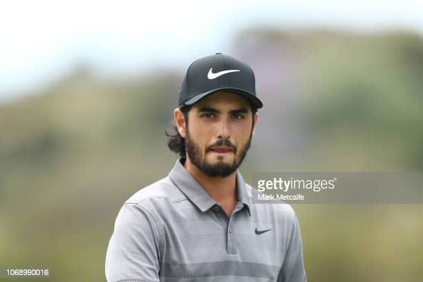 Abraham Ancer of Mexico looks on during day four of the 2018 Australian Golf Open at The Lakes Golf Club on November 18 2018 in Sydney Australia