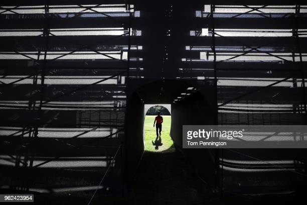 Abraham Ancer of Mexico walks off the fifth green during round two of the Fort Worth Invitational at Colonial Country Club on May 25 2018 in Fort...
