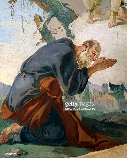 Abraham and the angels 17261739 by Giovanni Battista Tiepolo fresco Detail Patriarchal Palace Guest Hall Udine