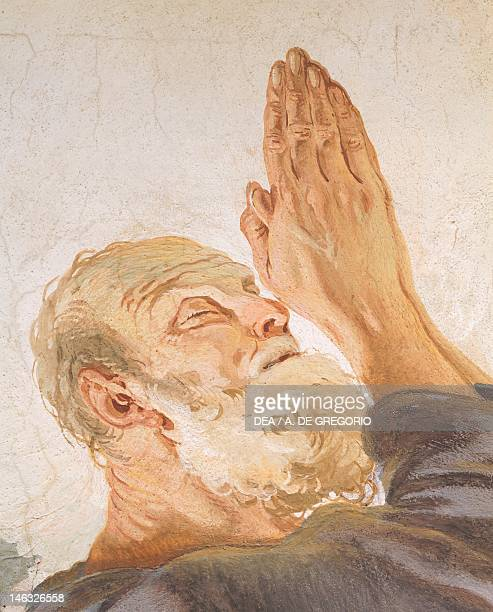 Abraham and the angels by Giambattista Tiepolo fresco Detail Archbishop's Palace Udine