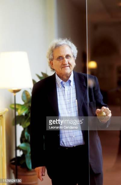 Abraham B Yehoshua, Abraham Yehoshua, portrait, writer, Israeli, novelist, Modena, Italy, 15th November 2004.