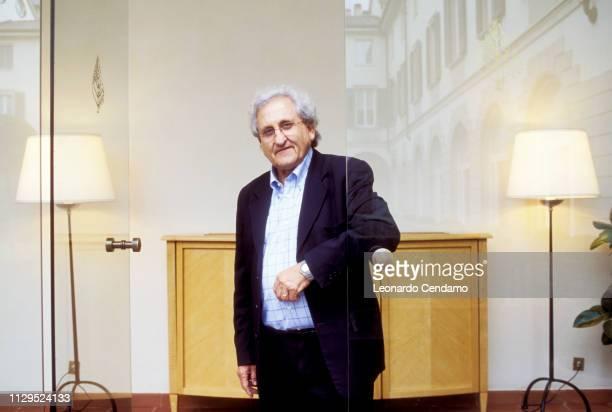 Abraham B Yehoshua, Abraham Yehoshua, portrait, writer, Israeli, novelist, Mantova, Italy, 15th November 2004.