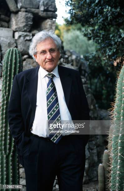 Abraham B Yehoshua , Israeli novelist, essayist, and playwright, portrait, Torino, Italy, 2001.
