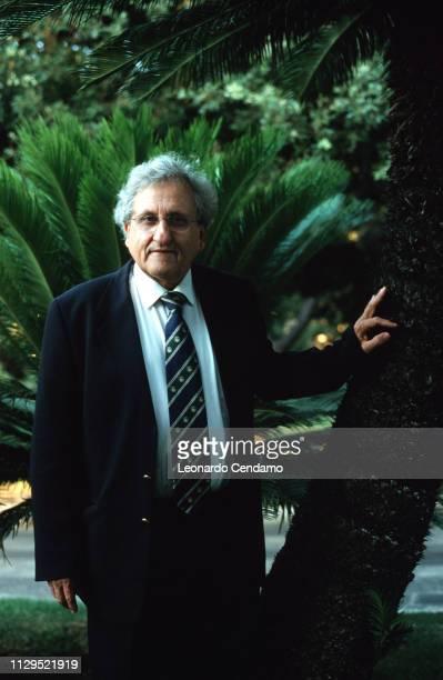 Abraham B Yehoshua , Israeli novelist, essayist, and playwright, portrait, Milan, Italy, 2001.