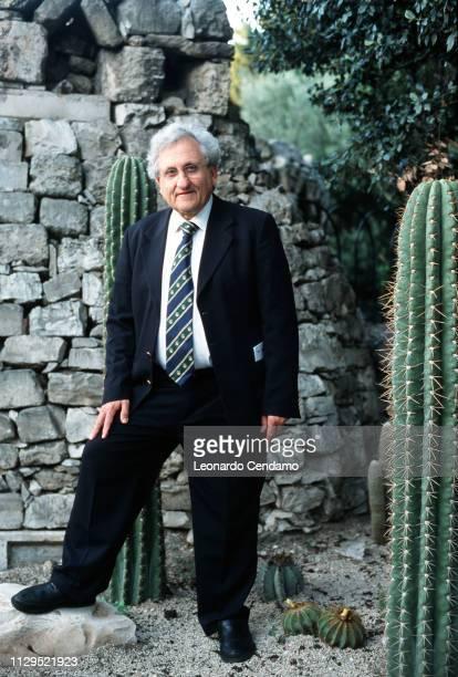 Abraham B Yehoshua , Israeli novelist, essayist, and playwright, portrait, Bari, Italy, 2001.