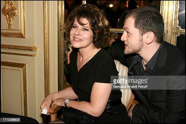 Abraham Belaga and godmother Fanny Ardant at The Diner Des Revelations 2010 Organised By The Cesar Academy .