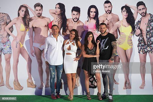 Abraham Elettra Arantxa and Esteban attends MTV SuperShore photocall at the Palacio de Congresos during FesTVal 2016 Day 4 on September 8 2016 in...