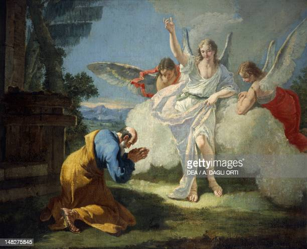 Abraham is visited by angels by Francesco Fontebasso Trento Museo Diocesano Tridentino