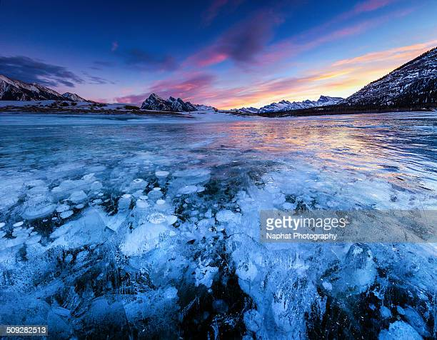 Abraham Lake in the evening