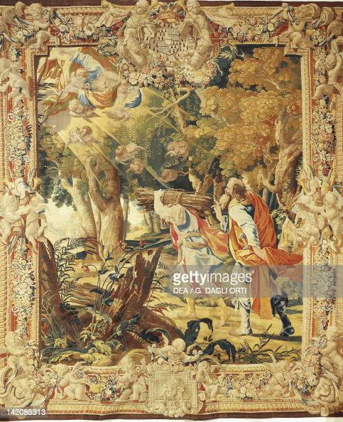 Abraham Leading Isaac To Sacrifice, 17th Century Tapestry
