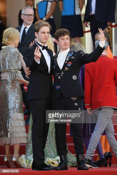 Abraham Lewis and Alex Sharp attend the 'How To Talk To Girls At Parties' screening during the 70th annual Cannes Film Festival at on May 21 2017 in...