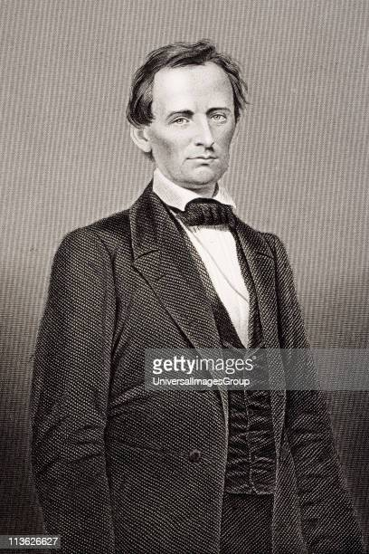 Abraham Lincoln 18091865 16th President of the United States 186165 From a 19th century print engraved by D J Pound from a photograph