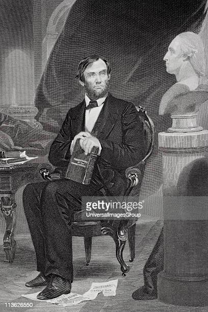 Abraham Lincoln 180965 16th President of the United States 186165 From painting by Alonzo Chappel