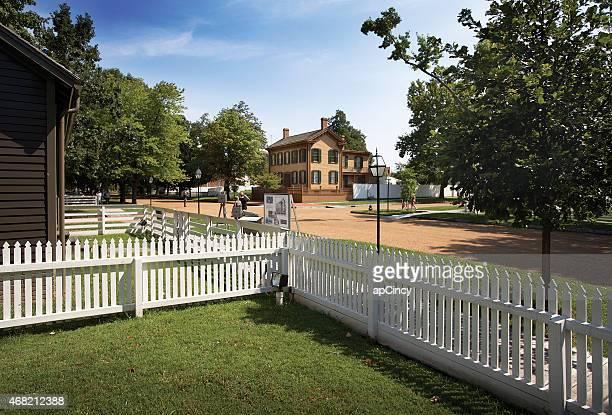 アブラハム・リンカーン自宅と国立史跡 - スプリングフィールド ストックフォトと画像