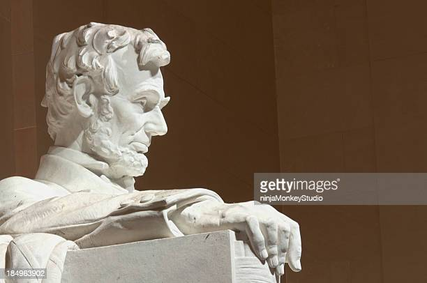 abraham lincoln memorial profile - lincoln memorial stock pictures, royalty-free photos & images
