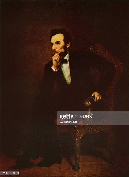 Abraham Lincoln portrait 16th President of the United States 12 February 1809 Ð 15 April 1865 After the oil painting by George Peter Alexander Healy