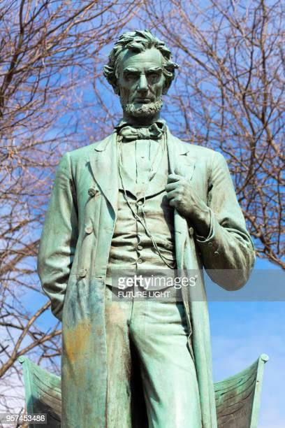 Abraham Lincoln Statue, Lincoln Park, Chicago, Illinois, USA, North America