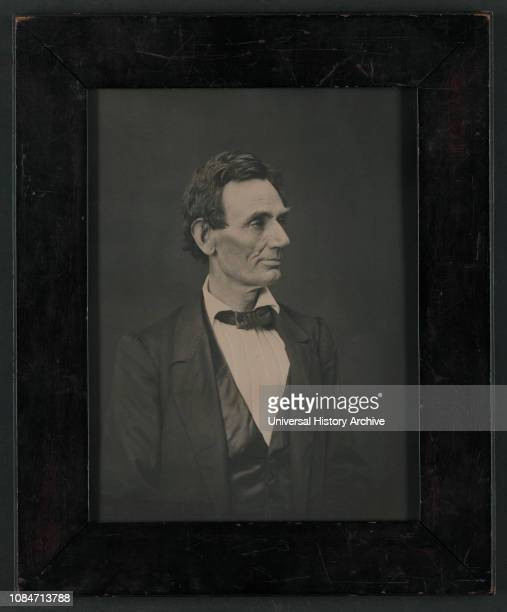 Abraham Lincoln US Presidential Candidate Halflength Portrait Springfield Illinois USA by Alexander Hesler June 3 1860