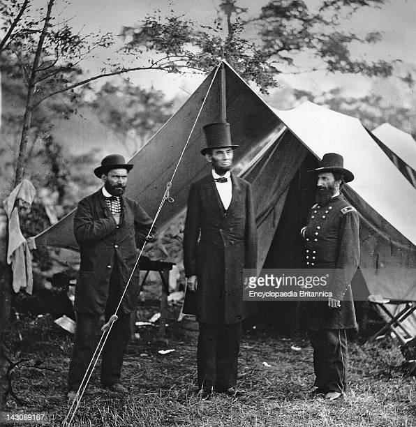 Abraham Lincoln With John Alexander Mcclernand Allan Pinkerton President Abraham Lincoln And General John A Mcclernand At Antietam Maryland October...
